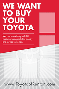 Toyota BuyBack Specials Board
