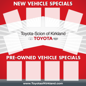 Toyota Combo Specials Board